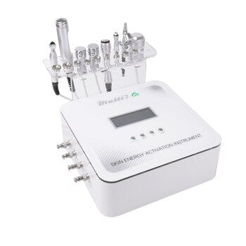 Multi 7 O2 7 in 1 diamond microdermabrasio Micro-current face lifting machine skin whitening wrinkle removal Oxgen jet skin care machine