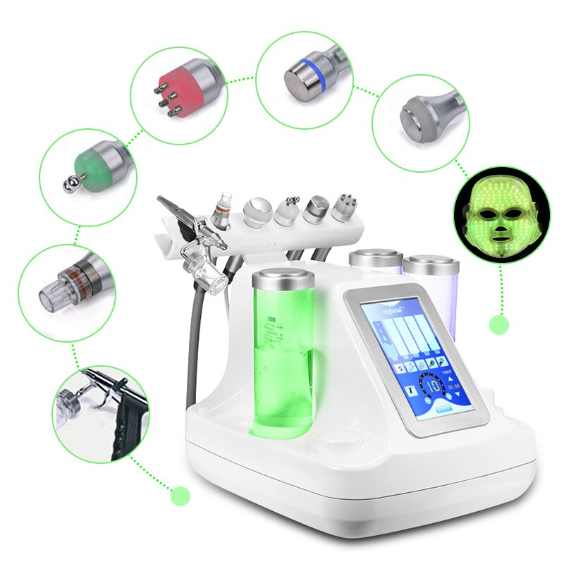 7 in 1 Vacuum Face Cleaning Dermabrasion Hydra Facial Machine Water Oxygen Jet Peel Massage Skin Care Machine RF Beauty Device