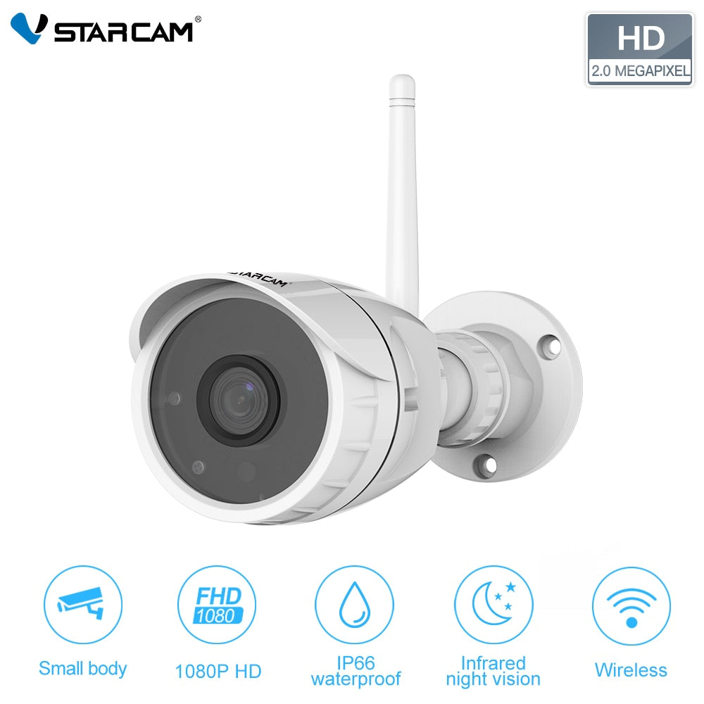 Vstarcam 1080P 2MP FHD Security Waterproof Surveillance Camera Wireless IR-Cut CCTV Outdoor Bullet IP Camera C17S