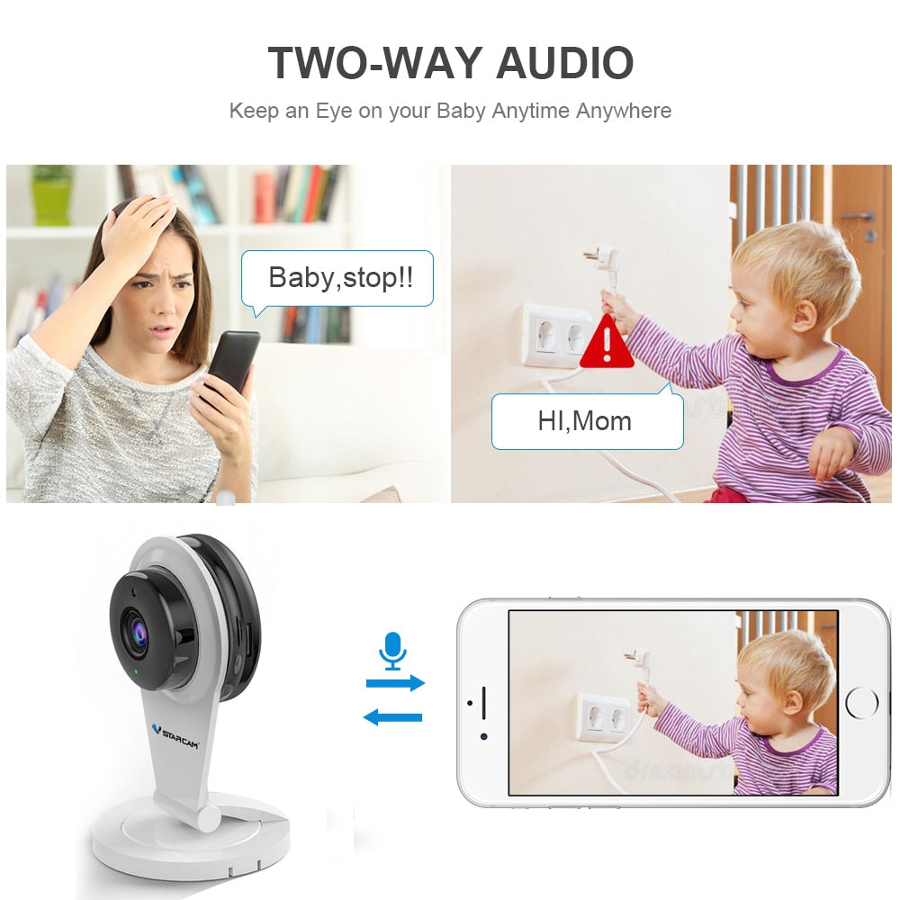 Vstarcam G96 720P HD IP Camera Wireless Network CCTV Camera IR-Cut Two Way audio Mini Wifi Security Baby Monitor