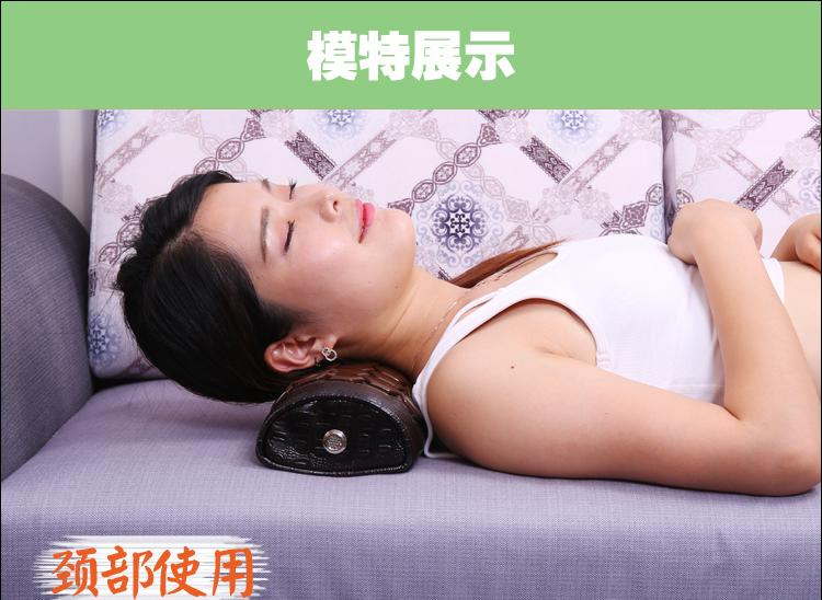 Hexagon jade tourmaline germanium stone jade waist cervical pillow massage relaxant cervical tourmaline pillow Cervical Traction Pain relief