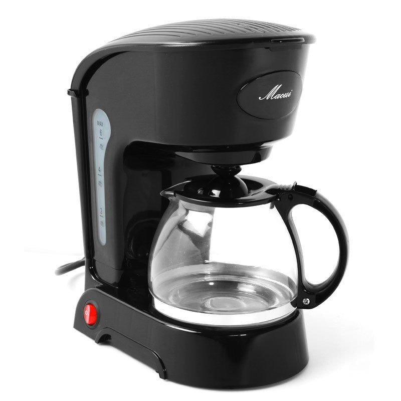 Automatic Espresso Electric Coffee Maker Black Drip Coffee Machine With Water Window High-quality cafe American 800w