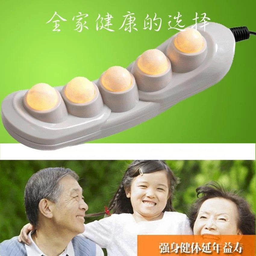 5 Balls Natural Jade Heater Jade Far Infrared Heating Therapy Massage Device