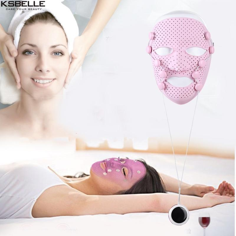 New Smart Portable Facial Mask Silicone Magnetic Massage face lift Anti Wrinkle Crow Feet Eye Toning Firm Skin mask Machine