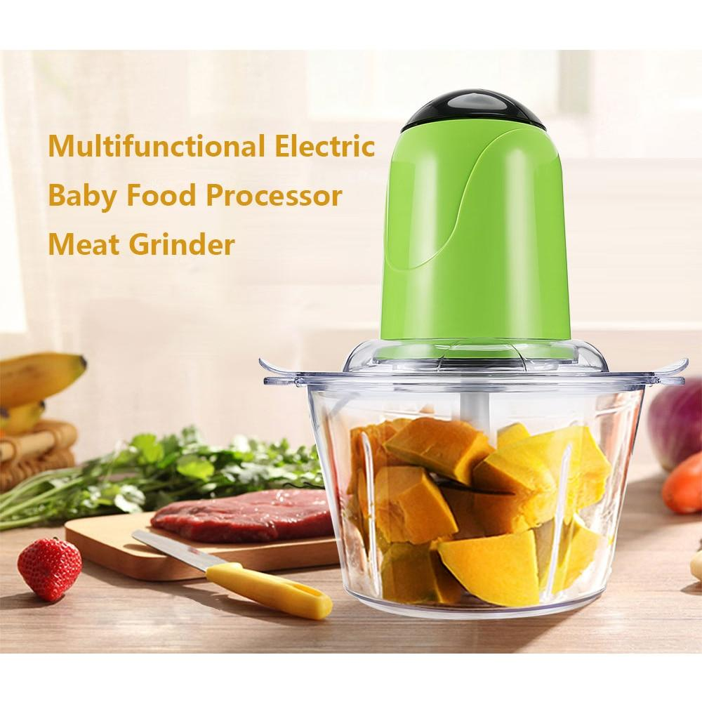 Multifunctional Household Electric Meat Grinder 4 stainless steel blades mincer grinder Home Food Processor Mixer Fruit Blender