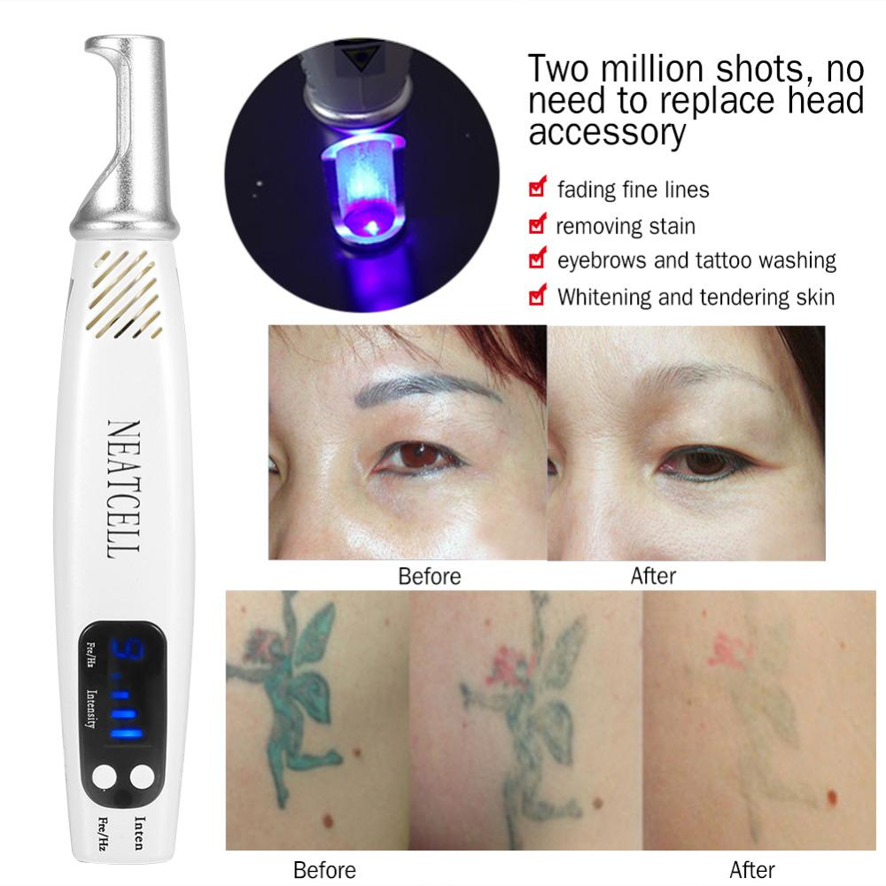 Picosecond Laser Pen Blue Light Therapy Tattoo Scar Mole Freckle Removal Dark Spot Remover Machine Skin Care Beauty UK EU US AU Plug