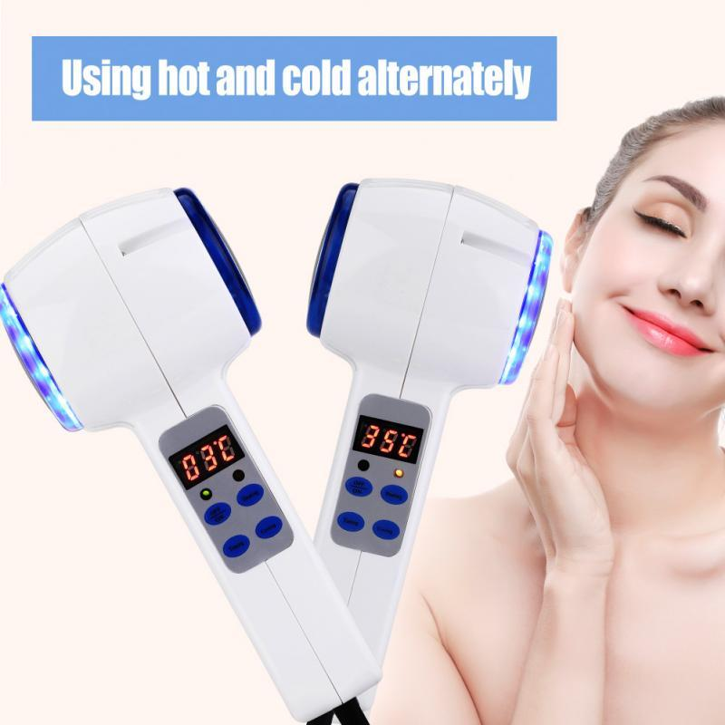 Face Care Device Hot and Cold Hammer Facial Skin Tighten Ultrasonic Cryotherapy Blue Photon Acne Treatment Skin Beauty Massager Beauty Salon