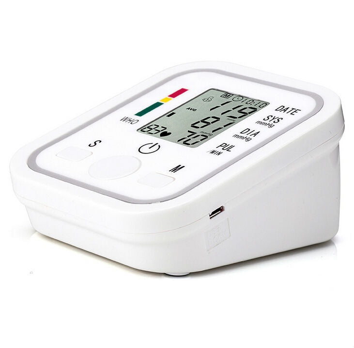 Digital Automatic Arm Blood Pressure Monitor BP pulse gauge Meter electronic sphygmomanometer tonometer