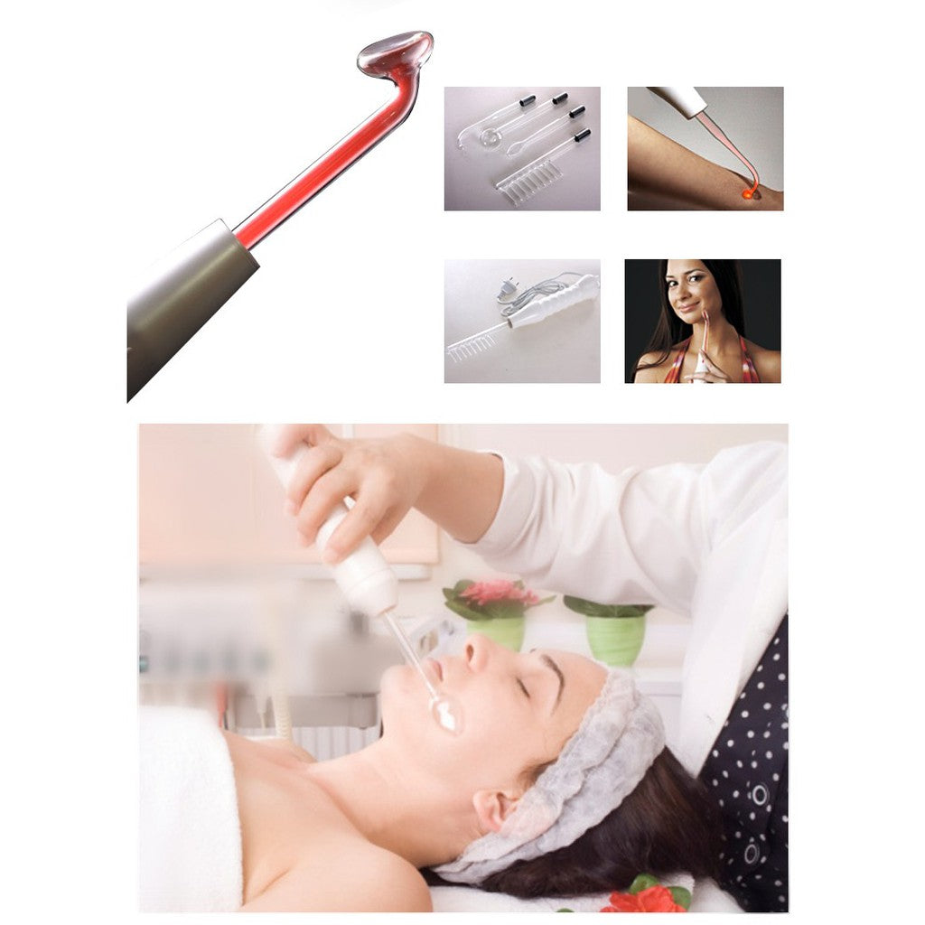 High Frequency Electrode Glass Tube Electrotherapy D'arsonval Skin Care Tool