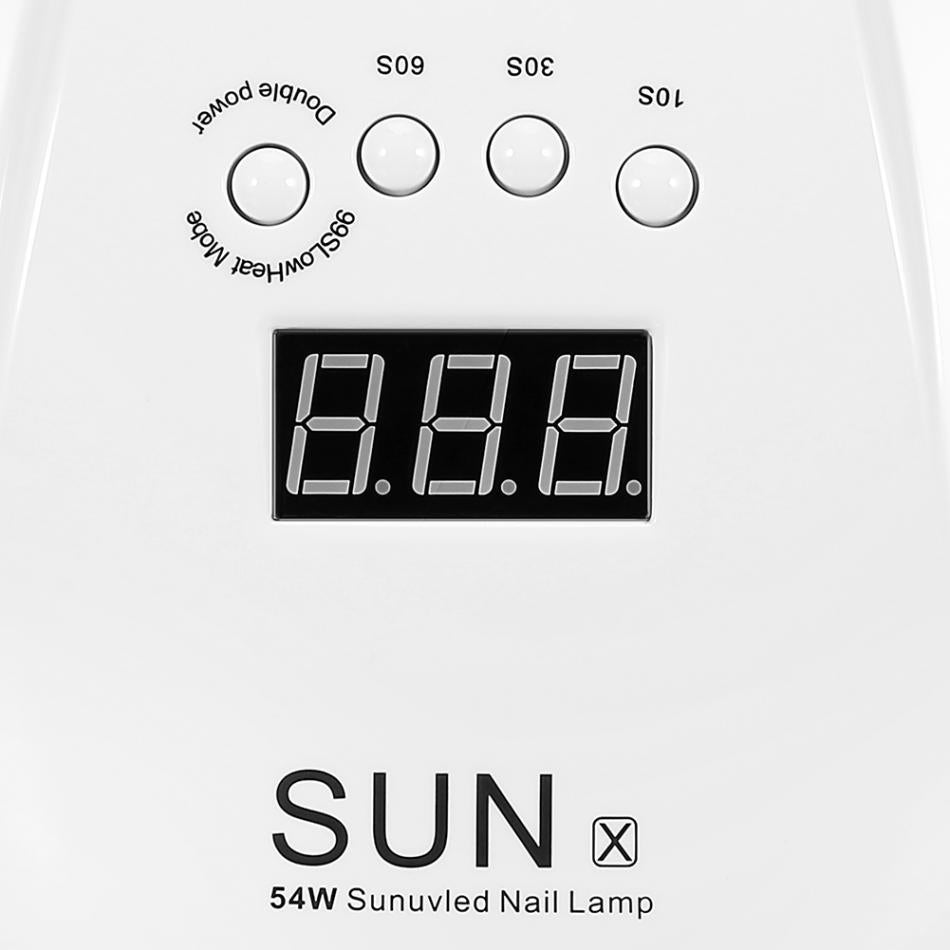 54W SUN X UV LED Nail Lamp Dryer Manicure Machine 36 LEDs Nail Dryer Lamp for Nail Gel Polish Drying Curing with Smart Sensor