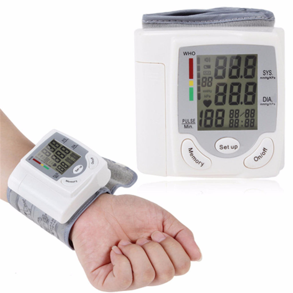 Household measure blood pressure device Full Automatic Sphygmomanometer Electronic Wrist Blood Pressure and heart rate Monitor