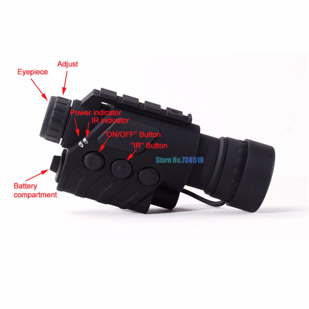 Infrared Dark Night Vision IR Monocular Binoculars,Telescopes 5X Magnification for Night Hunting & Field Game