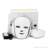 LED Photon Therapy Beauty Machine Skin Rejuvenation LED Facial Neck Mask With 7 Colors Microcurrent For Wrinkle Acne Removal face beauty