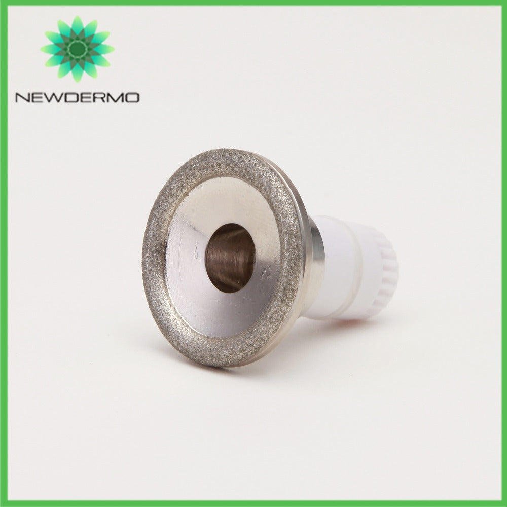 NEWDERMO Diamond V Face Massage Tip Fine Tip limbs tip For Microdermabrasion Machine Skin Rejuvenation 2 Different heads