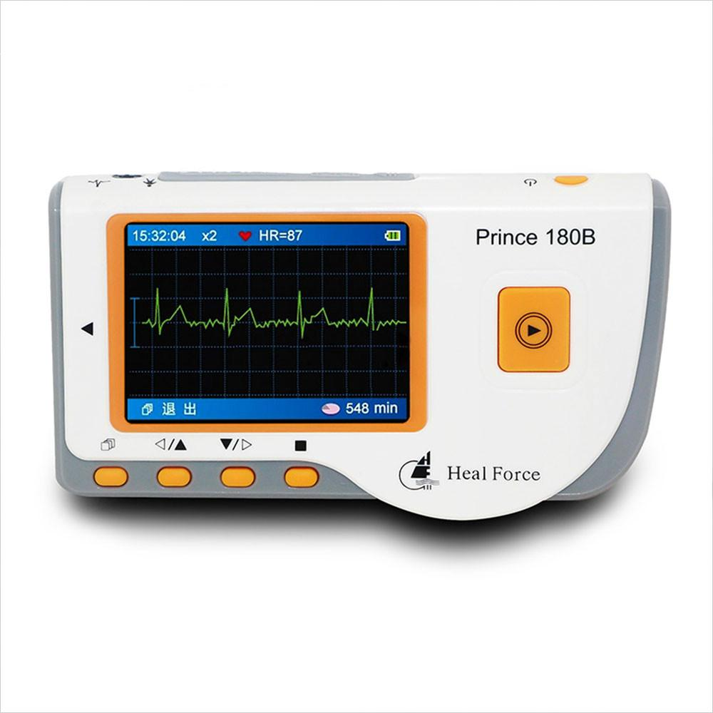 Portable Heart ECG Monitor Software Electrocardiogram CE Health Monitor Rapid ECG EKG Tester Easy Handheld Prince 180B