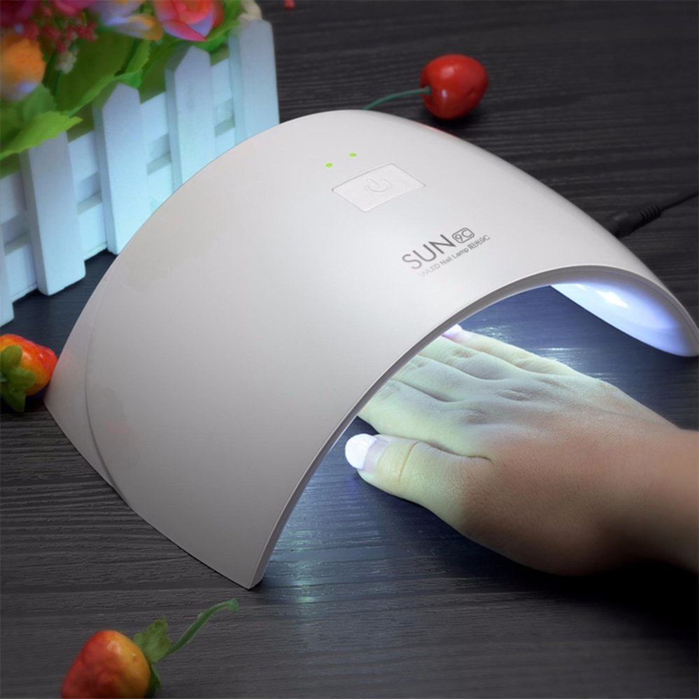 SUN SUN9c 24W Nail Lamp Nail Drye For Gel Nail Machine Curing Hard Gel Polish Best For Personal Home Manicure