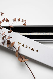 NARROW SWAROVSKI BELT White