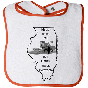 Baby Bib - Illinois Feed Me