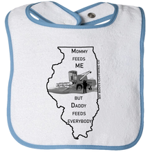 Load image into Gallery viewer, Baby Bib - Illinois Feed Me