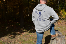 Load image into Gallery viewer, Cozy Hoodie-Illinois Arrows Heather Gray