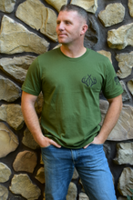 Load image into Gallery viewer, 217 Antlers Hunting Tee-Olive