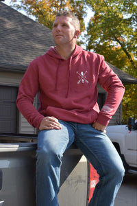 Cozy Hoodie-Illinois Arrows Cardinal Red