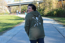 Load image into Gallery viewer, Cozy Hoodie-Illinois Arrows Military Green