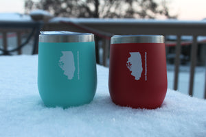 Illinois Classic 12oz Tumbler-Red