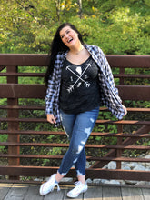 Load image into Gallery viewer, Women's Slouchy ILLINOIS Tee Arrows-Black Marble