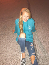 Load image into Gallery viewer, Cozy Hoodie-Illinois Arrows Heather Teal