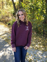 Load image into Gallery viewer, Cozy Hoodie-Illinois Arrows Heather Maroon