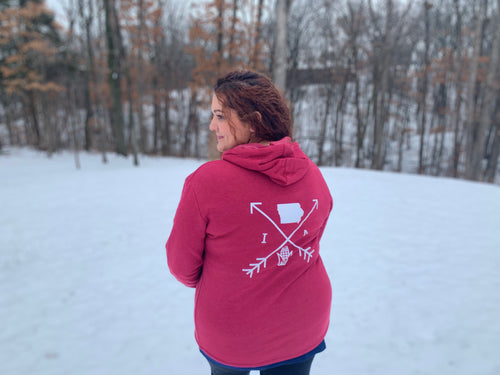 Cozy Hoodie- Iowa Arrows Red