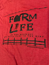 Load image into Gallery viewer, Farm Life Unisex Tee - Heathered Red