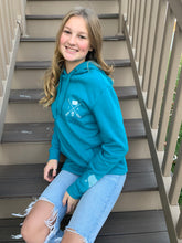 Load image into Gallery viewer, Cozy Hoodie - Iowa Arrows Teal