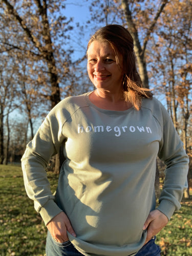 Homegrown Crew Sweatshirt - Sage