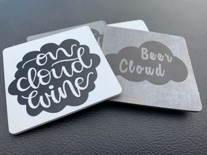 Cloud Wine/Beer Coaster