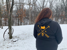 Load image into Gallery viewer, Cozy Hoodie- Iowa Arrows Black