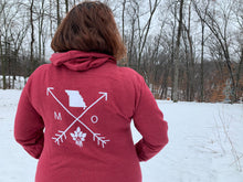 Load image into Gallery viewer, Cozy Hoodie- Missouri Arrows Red