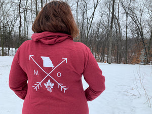 Cozy Hoodie- Missouri Arrows Red