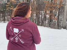 Load image into Gallery viewer, Cozy Hoodie- Iowa Arrows Maroon