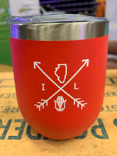 Load image into Gallery viewer, Illinois Arrows 12oz Tumbler - Red