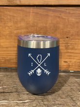 Load image into Gallery viewer, Illinois Arrows 12oz Tumbler - Navy