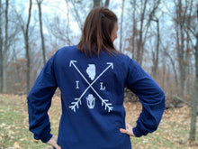 Load image into Gallery viewer, Illinois Arrows Long Sleeve - True Navy