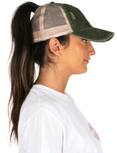 Load image into Gallery viewer, Distressed Ponytail Hat