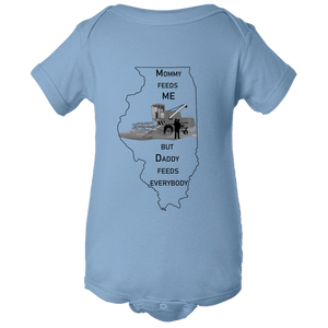 Illinois Baby Body Suit - Feed Me