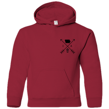 Load image into Gallery viewer, Iowa Arrows (front/back) - Youth Hoodie
