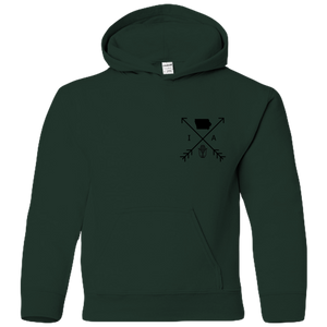 Iowa Arrows (front/back) - Youth Hoodie