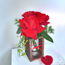 Load image into Gallery viewer, Rose floral bottle | Coastal Flowers | Valentine's Day Gift