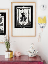 Load image into Gallery viewer, Silkscreen tarot - La Lune