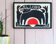 Load image into Gallery viewer, El Lobo A3 riso print